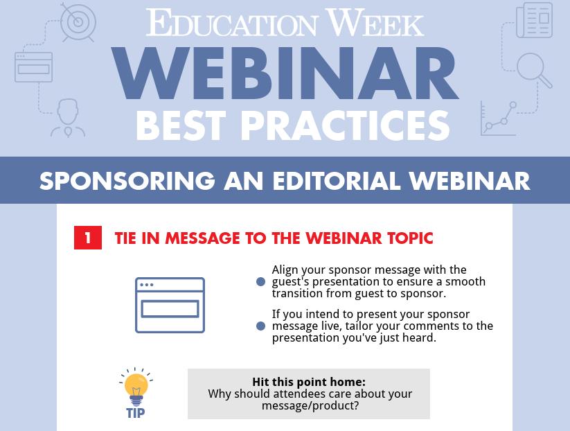 Editorial Webinar Sponsorship - Education Week Advertise